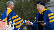 Joseph Cunningham was awarded the Charles Force Hutchison and Marjorie Smith Hutchison Medal during the 2015 commencement ceremony at the University of Rochester.