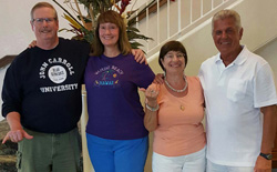 From left: Rick Rea, Dr. Melissa Rea, and Eileen (Phillips) and Pat Cataldo