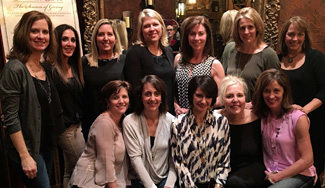 Back row:  Michelle (Couture) Koester, Sue (Hersh) Greenberg, Beth (Cornelius) Nairn, Candace (Martin) Phelan, Kristin (Dickinson) Hogue, Maribeth (Brunn) Robinson, and Amy (Finke) Cook. Front row:  Linda (Holmes) Donnelly, Lynne (Rifugiato) Young, Susan (Ayna) Carney, Maureen O'Grady, Kristin (Fornes) Connaughton.