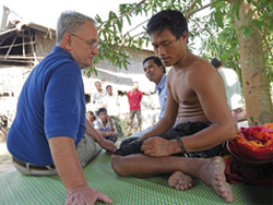 Fr. Kevin Conroy works with mentally ill people in Cambodia.