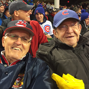 Mason and Schweickert at Game 2 of the World Series