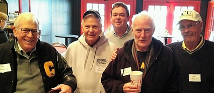 From left: Breen, Parker, Neil Herald '89, Smith, and Herald