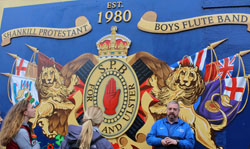 A pro-England mural