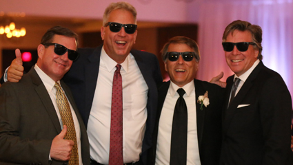 6297b91d4 Classmates John Baran, Tom Keir, Mark McGinley, and Phil Simon at the  wedding McGinley's son Chris in September.