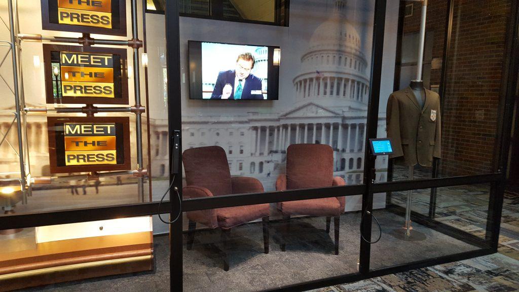 "Tim Russert's ""Meet the Press"" set is on display at John Carroll University."