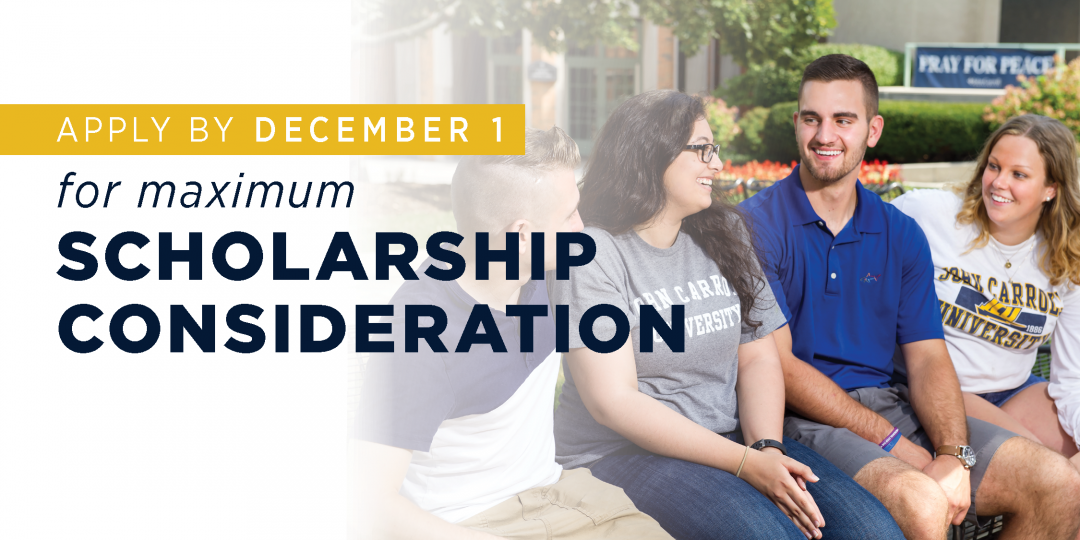 Apply by Dec 1 for maximum scholarship consideration