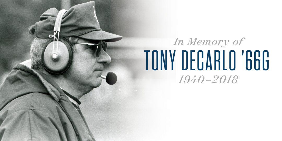 In Memory of Tony DeCarlo '66G, 1940-2018