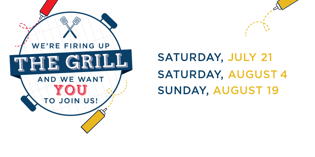 Join us for our summer visit events, Cookouts on the Quad, on July 21, August 4, and August 19
