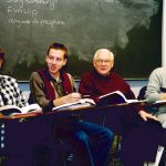 Fr. Gray in the classroom