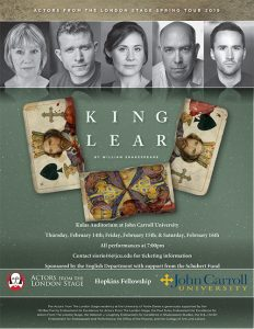 King Lear comes to JCU this week.