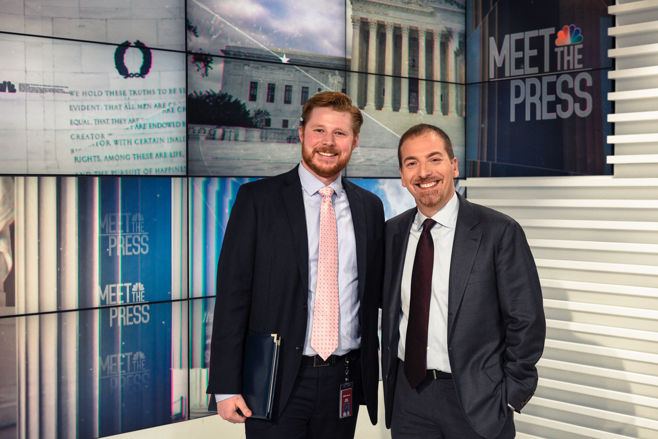 Ryan Brown, at left, with Chuck Todd
