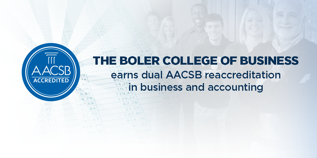 The Boler College of Business earns dual AACSB reaccreditation in business and accounting
