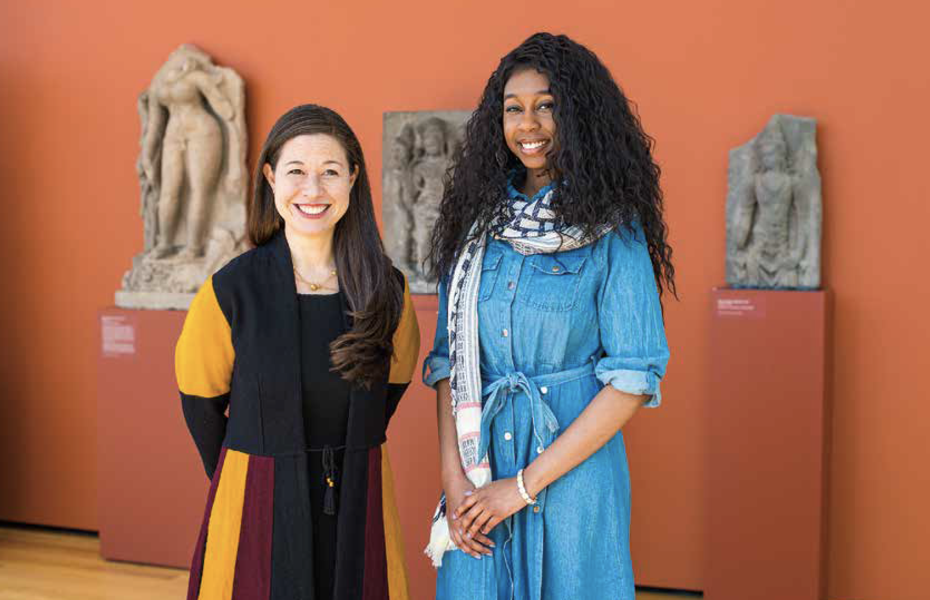 Adriana Nelson and her professor in the Cleveland Museum of Art.