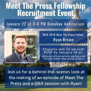 Poster for Meet The Press Fellowship Recruitment Event