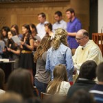 Celebrating Mass with John Carroll students, April 2012.