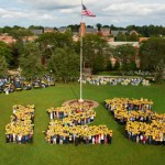 At the 125th anniversary celebration on the Quad, September 2011.