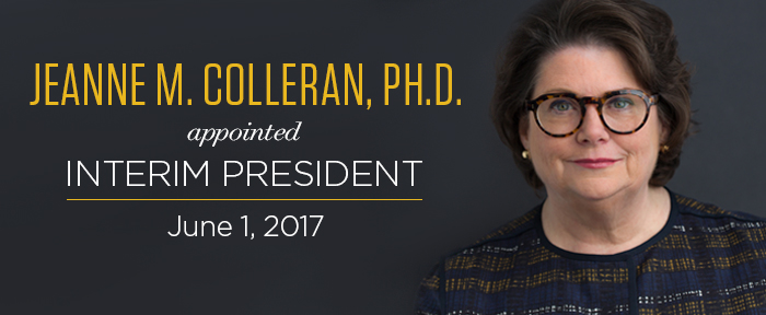 Jeanne Colleran, appointed Interim President June 1 2017