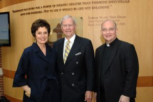 Fr. Niehoff with the 2010 Commencement Speaker Tom Brokaw