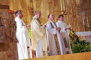 Celebrating Fr. Casey Bukala's 50th Jubilee in October 2008.