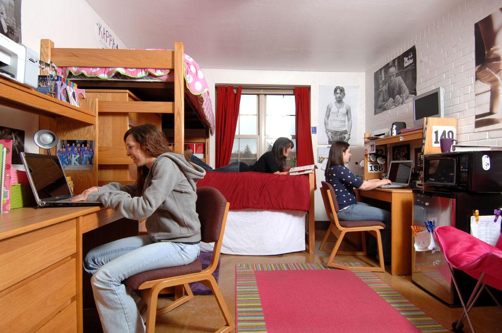Male Dorm Rooms Outside