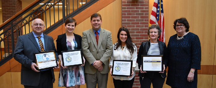 Student award winners with faculty