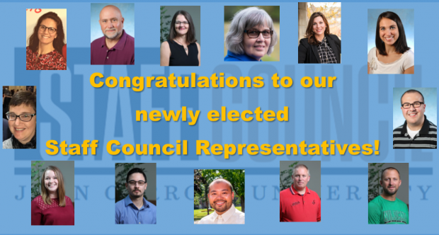 Congratulations to newly elected Staff Council members!