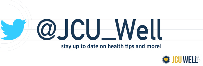 Health Center Twitter @JCU_Well