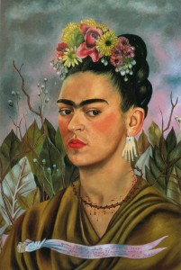 Self-Portrait-Dedicated-to-Dr-Eloesser-1940-by-Frida-Kahlo